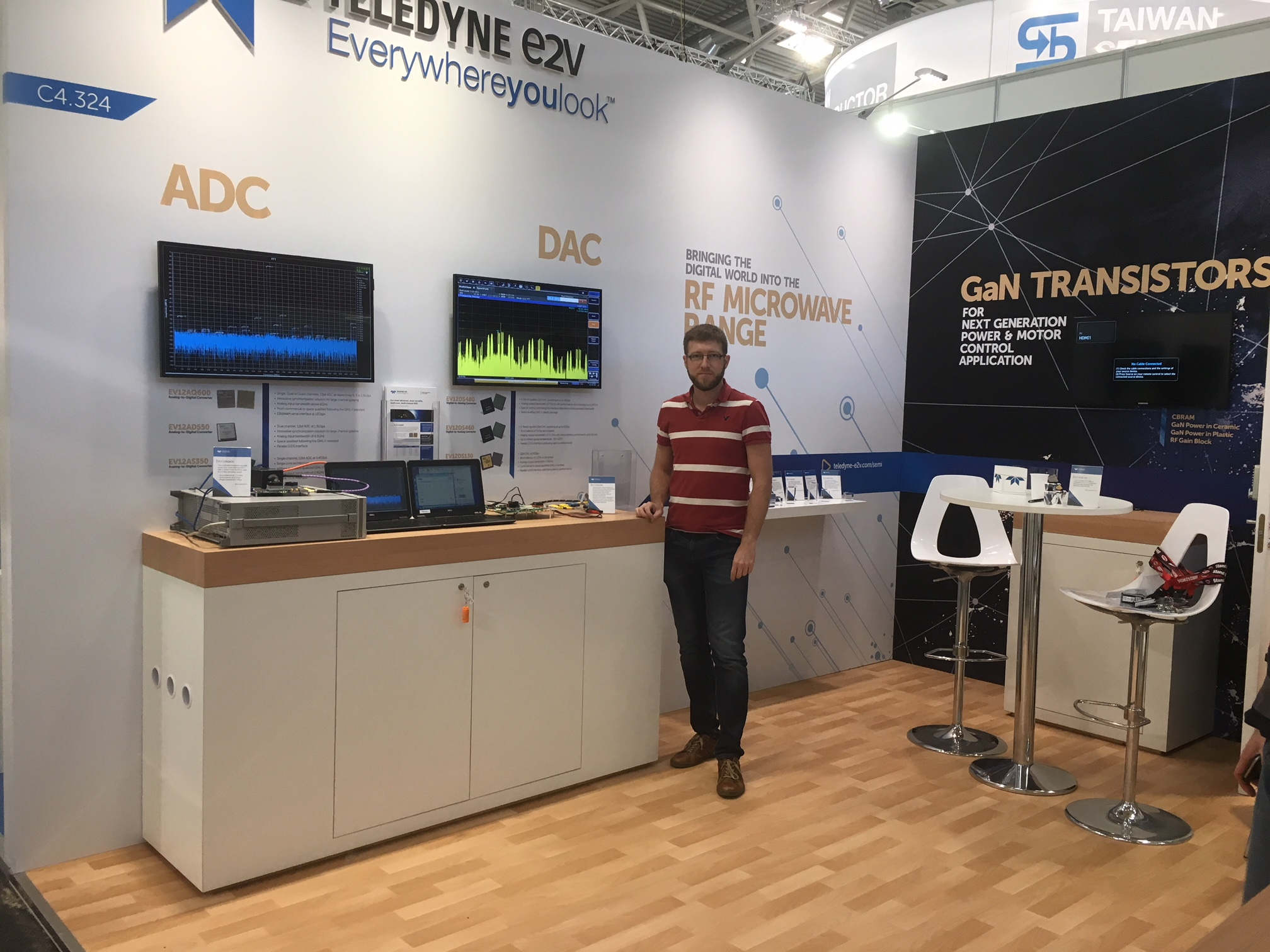 Teledyne e2v booth at electronica 2018